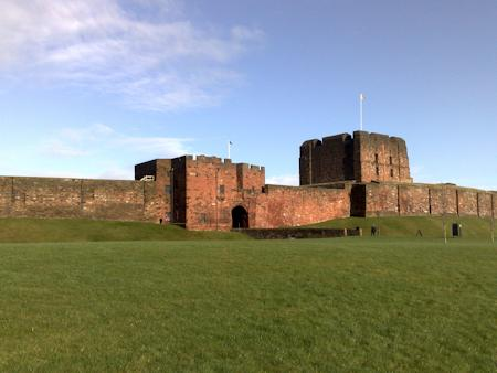 The great keep and gatehouse at Carlisle Castle