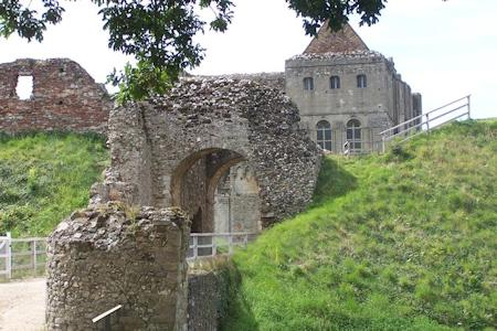 The gatehouse at Castle Rising