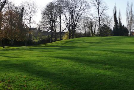 Cherry Hill Park - the site of Ely Castle's motte