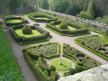 The formal gardens at Chillingham