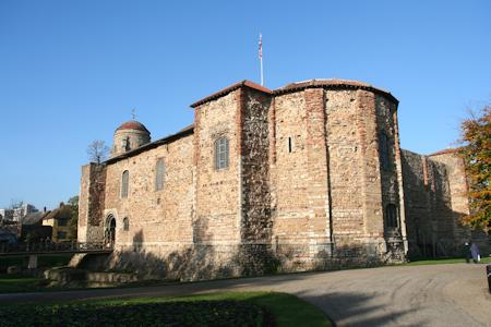 South east corner of Colchester Castle displaying the apse on the east wall