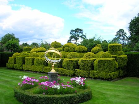 Topiary chess set in the landscape gardens at Hever