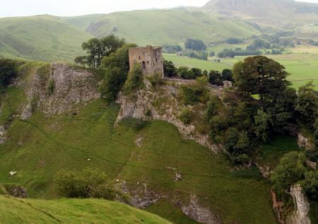 Peveril Castle overlooking Castleton