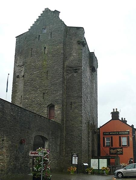 The entrance to the tower in Roscrea