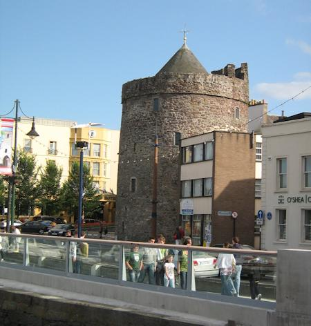 Looking along the Quay to Reginald's Tower
