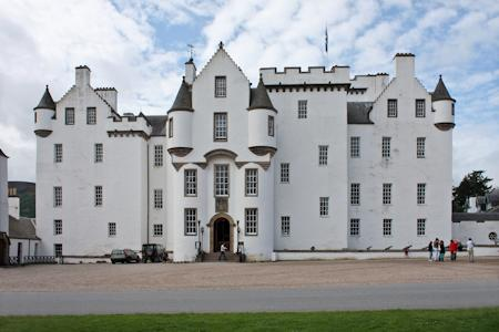 The front of Blair Castle