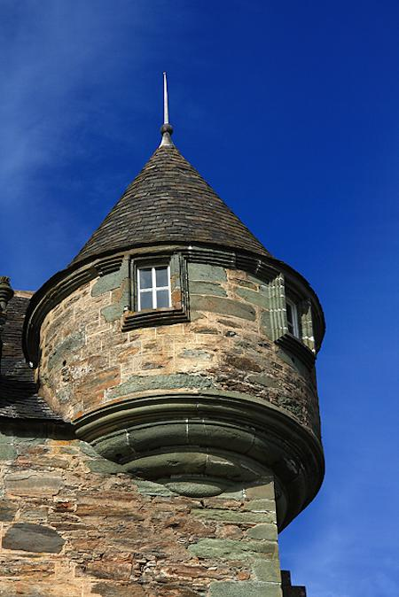 Close up view of Castle Menzies