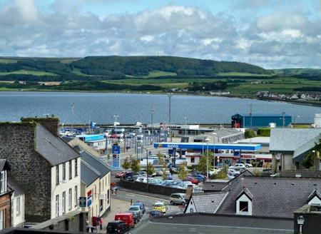 View over Stranraer from the top of the castle