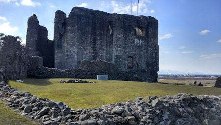 Dundonald Castle Keep with the remains of forebuildings