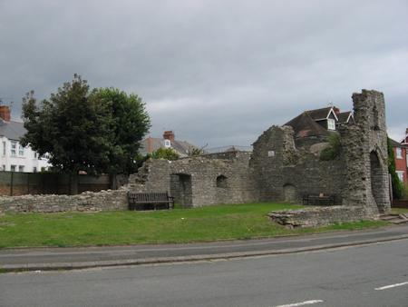 The south range and the gatehouse on the right hand side