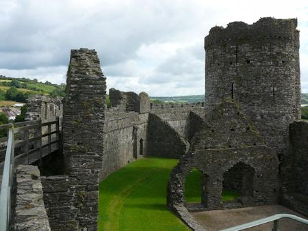 View into the castle from the battlements