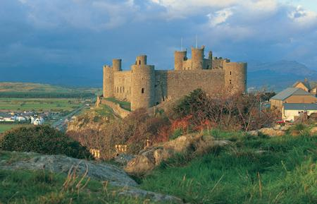 Harlech Castle, part of the UNESCO world heritage site.