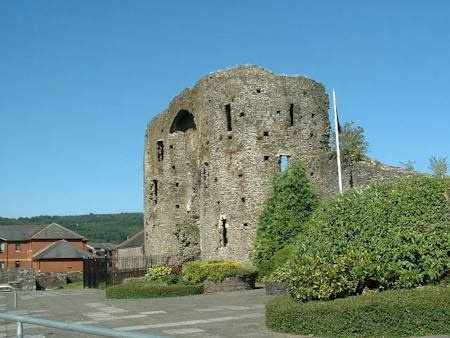 Neath castle gatehouse viewed from the south