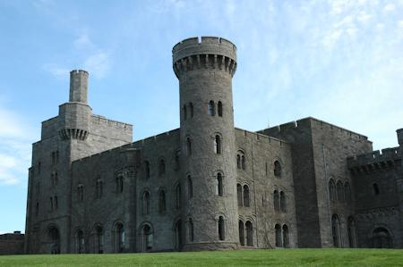 The imposing exterior of the castle
