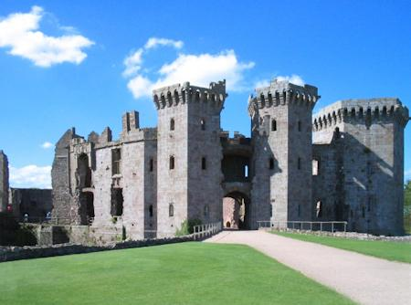 Raglan Castle Entrance and Gatehouse