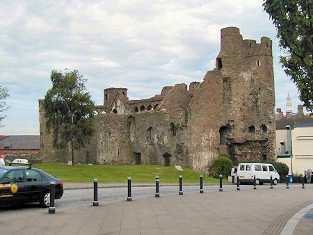 Swansea Castle viewed from Castle Square